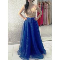 Vestido Azul Royal/casamento/madrinha/formatura/ P Entrega