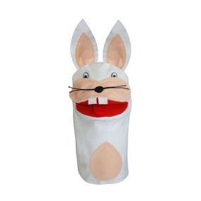 Fantoche Individual Animais Coelho - Brinquedo Educativo