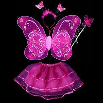 Disfraz De Princesa,muñeca,mariposa, Flor Tutu