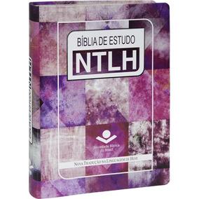 Bíblia De Estudo Ntlh Feminina Rosas + Capa De Silicone