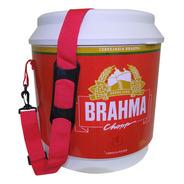 Cooler Térmico Barril Brahma 20 Litros Com Alça De Ombro