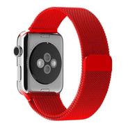 Pulseira Milanese Para Apple Watch 38/40mm - Vermelha