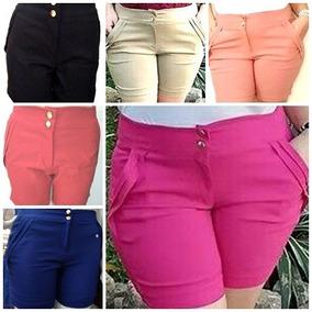 Shorts Feminino Tamanho Especial Plus Size Bermuda 46 48 50