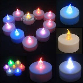 24 Velas Luz Led Multicolor Fiesta Decoracion Boda Arreglos