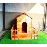 Casa Para Mascotas Raza Mediana-grande Madera De Pino