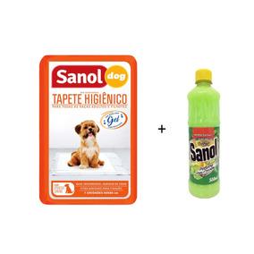 Tapete Higiênico Sanol Não Vaza Pet Cães Brinde Desinfetante