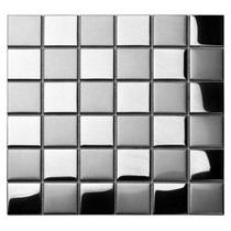 Pastilha De Aço Inox Xadrez 5x5cm Escovado / Espelhado