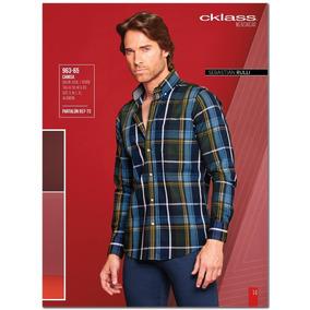 Camisa Cklass Azul/verde Primavera Verano 2016 Nueva