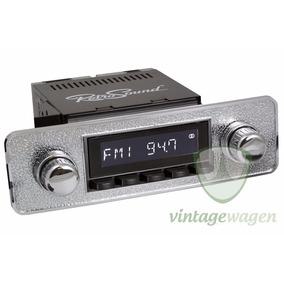 Rádio Retrosound Fusca 1970-96 Cromada Básica-- Vintagewagen