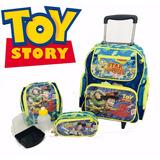 Mochila Toy Story Disney De Rodinhas + Lancheira + Estojo