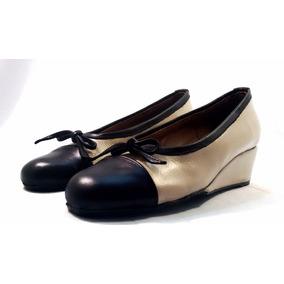 Sam123 Zapatos Taco Chino De Cuero Talles Grandes Roca