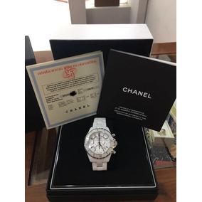 Chanel J12 Chronographe Cerámica Blanca H1007 100% Autentico