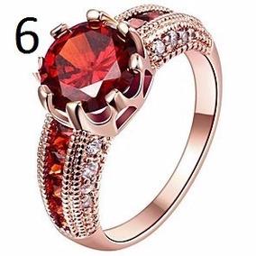 Anel Com Rubi E Diamantes