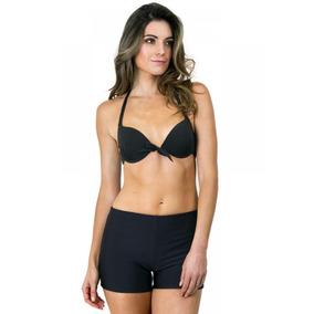 Parte Inferior Bikini Short Liso Grafito Ac Mare