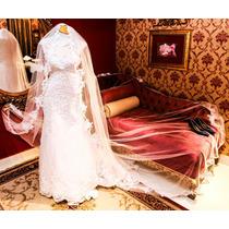Vestido Noiva Em Tule C/renda E Cristais E Pedras 36/38