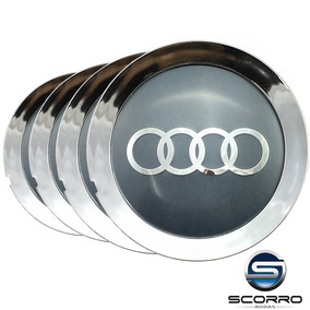 Jogo Calota Miolo Roda Scorro S181/s172 Audi A8 A3 Cromada