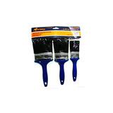 Juego De 3 Brochas Mango Azul Plastico China