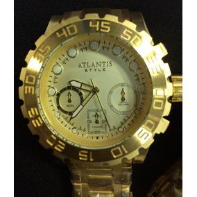 Relógio Atlantis Original A3311 Grande Serie Style Dourado