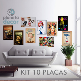 Kit 10 Placas Decorativas Laçamentos