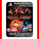 Mortal Kombat 9 Ps3 : Digital : Completa Envios En Minutos