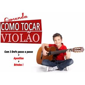 Curso Violão 3 Dvd´s + Apostilas + Brindes( Promoção)