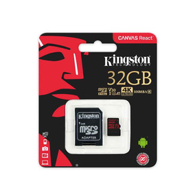 Tarjeta Microsd Kingston Canvas React 32gb 100/80 - Kingston