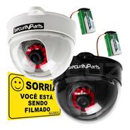 Câmera Segurança Dome Falsa C/ Led A Pilha Sem Fio Security
