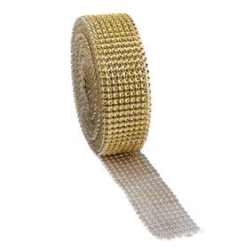 10 Yardas 1 5 8 Filas Oro Diamante Diamante De Imitación ...