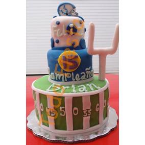 Pastel De Fondant Personalizados Bodas Xv Años Cumpleaños