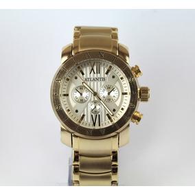 Relógio Original Atlantis Dourado Modelo Bvlgari