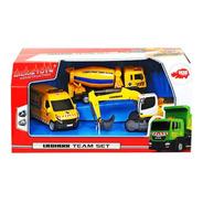3 Camiones Contructores Cemento Grua Y Vigilancia
