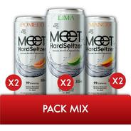Meet Hard Seltzer Mix X6 - Lima Mango Pomelo - Tomate Algo®