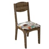 Conjunto 2 Cadeiras Estofada Estampado 100% Mdf Ca12 - Dal