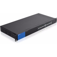Switch Gigabit Poe+ 24 Puertos Linksys Lgs124p No Adm