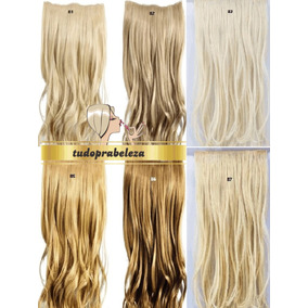 Hair Cabelo Alongamento Aplique Tic Tac Loiro Fibra Japonesa