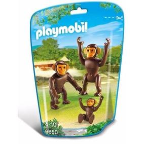 Retromex Playmobil 6650 Familia Chimpances Changos Zoologico