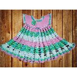 Vestido Crochet Tejido A Mano Para Niña 2-3 Años