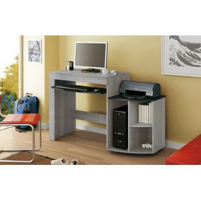 Mesa Para Computador Online Cinza Com Preto
