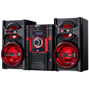 Mini System Lenoxx Com Radio Fm Estéreo, 1 Cd, Mp3 Ms844