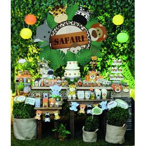 Kit Decoração Festa Safari Até 24 Convidados - 255 Itens