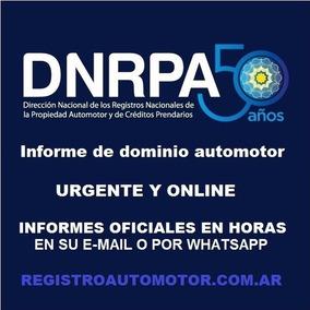 Informe De Dominio Automotor Oficial Urgente A Su Mail