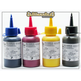 Tinta Sublimatica Polyester Caneca Bm Kit 4 Cores = 2 Litros