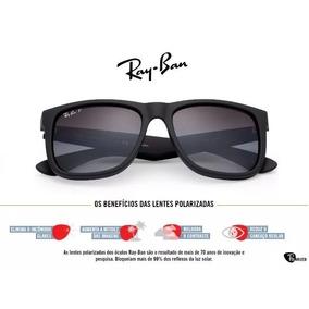 Oculos De Sol Rayban Justin 100% Polarizado Diversas Cores 320b92af7c