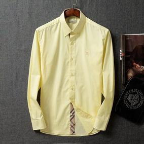 Camisa Caballero Burberry Long Shirt Lisa Amarillo Ocre