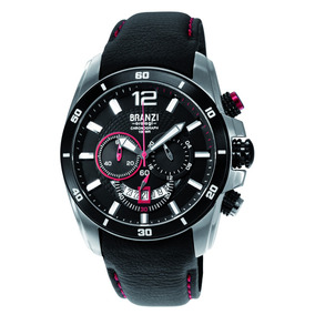 Reloj Branzi 20630 Cronometro Acero Con Piel --kairos--