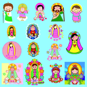 Kit Imprimible Virgencitas Imagenes Clipart