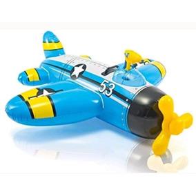 Bote Inflável Infantil Avião Pistola De Água 8019-3 Intex