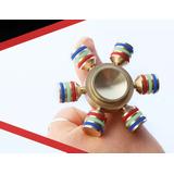 Fidget Hand Spinner Metalico Timon Con Estuche Desarmable