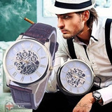 Reloj De Pulsera Esqueleto Mecánico Automático Para Hombres