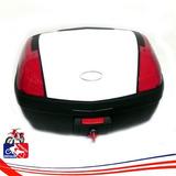 Maletas C/base 52lts Moto Klr Tx Tmax Para 2 Cascos Blanca